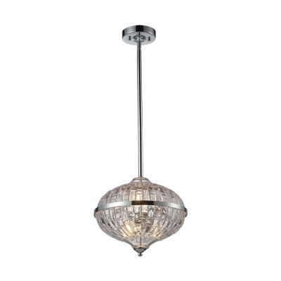 Nina Hand Blown Glass Pendant Light, Oval