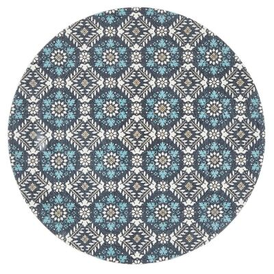 Lunar Eugenie Printed Cotton Round Rug, 200cm