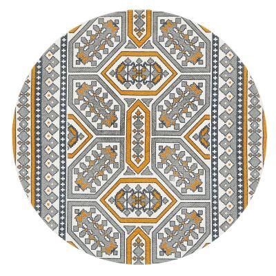 Lunar Darcy Printed Cotton Round Rug, 150cm