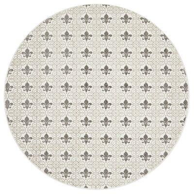 Lunar Imogen Printed Cotton Round Rug, 120cm