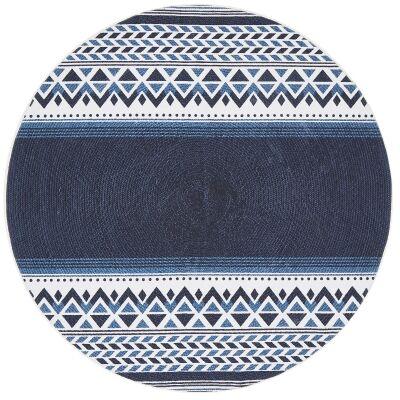 Lunar Harriet Printed Cotton Round Rug, 150cm