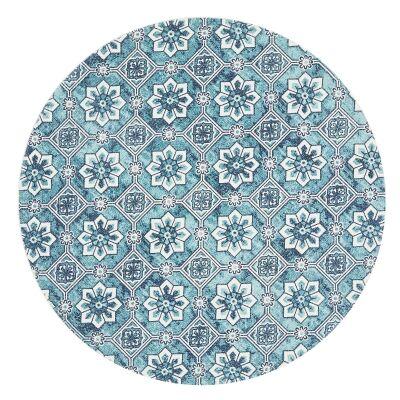 Lunar Lucretia Printed Cotton Round Rug, 120cm