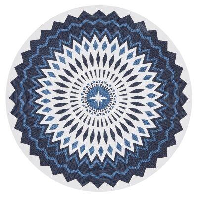 Lunar Millicent Printed Cotton Round Rug, 120cm