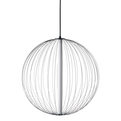 Carbon LED Steel Ball Pendant Light, Large, Black