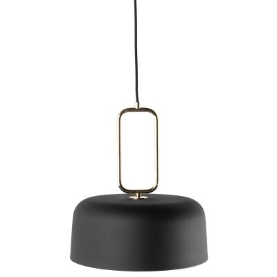 Kinetic Metal Pendant Light, Black / Brass