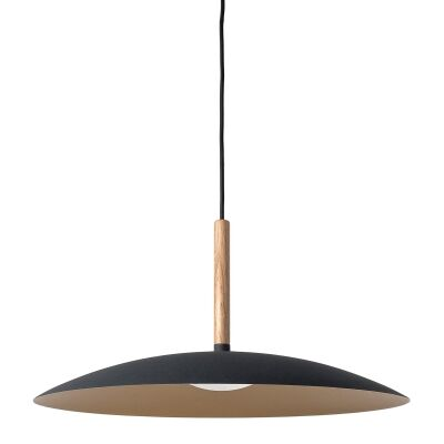 Solar LED Metal Pendant Light, Small, Black