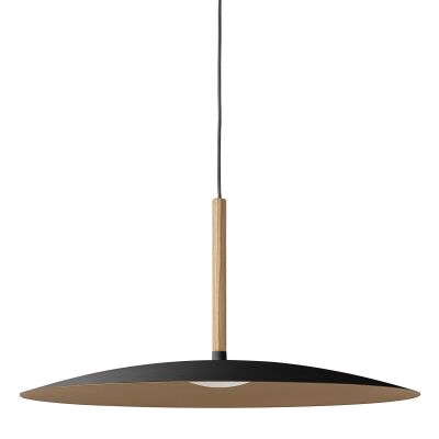Solar LED Metal Pendant Light, Large, Black