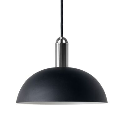 Sync Metal Pendant Light, Dome Shade, Black / Nickel