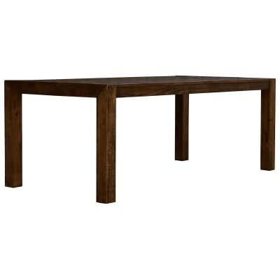 Arcadia Solid Timber Dining Table, 210cm, Aged Walnut