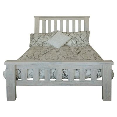 Romford Acacia Timber Bannister Bed, Double