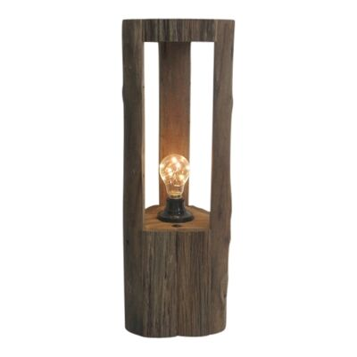 Haynes Oak Timber Table Lamp, Large