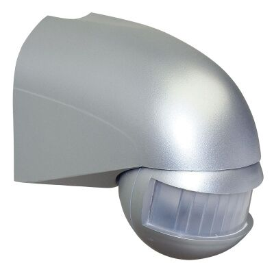 Wall Mounted 180 Degree Lightwatch Motion Sensor - Silver (Oriel Lighting)