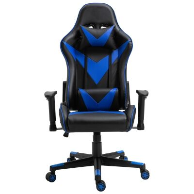 Thunderbolt PU Leather Gaming Chair, Black / Blue