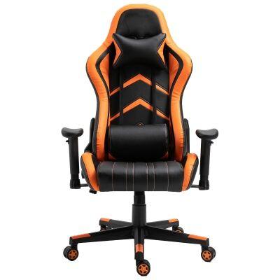 Cytron PU Leather Gaming Chair, Black / Orage