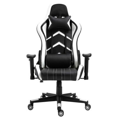 Cytron PU Leather Gaming Chair, Black / White