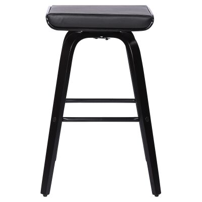 Lucca Commercial Grade Timber Bar Stool, Black