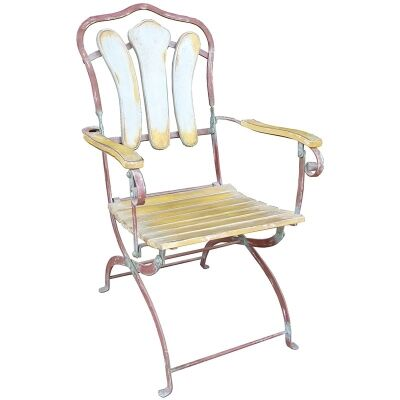 Compton Timber Slatted Metal Garden Chair