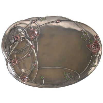 Veronese Cold Cast Bronze Coated Mackintosh Jewellery Tray
