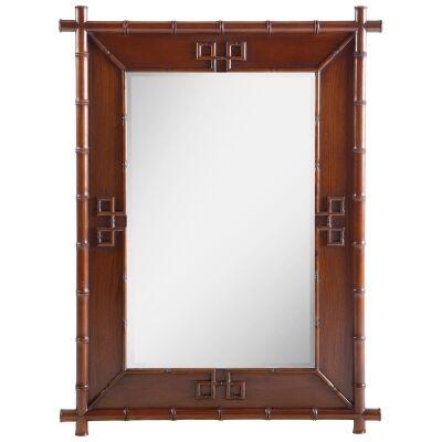 Cayman Mahogany Timber Frame Wall Mirror, 120cm