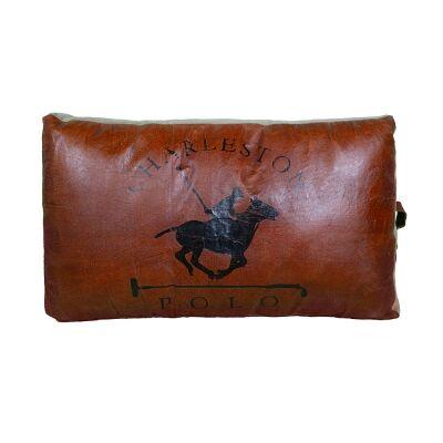 Polo Leather & Canvas Floor Cushion