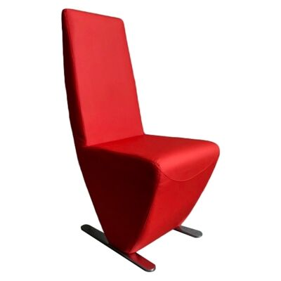 Meriel Vinyl Dining Chair, Red
