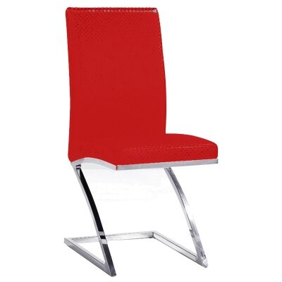 Flinders Vinyl Dining Chair, Red