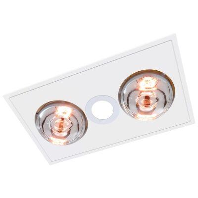 Ventair Myka 2 Slimline 3-in-1 Bathroom Heater with Exaust & LED Light, White