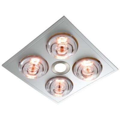 Ventair Myka 4 Slimline 3-in-1 Bathroom Heater with Exaust & LED Light, Silver