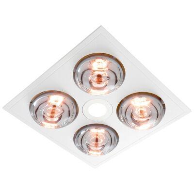 Ventair Myka 4 Slimline 3-in-1 Bathroom Heater with Exaust & LED Light, White
