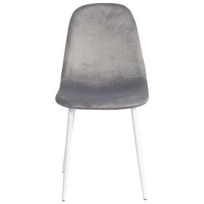 Mylo Velvet Fabric Dining Chair, Grey