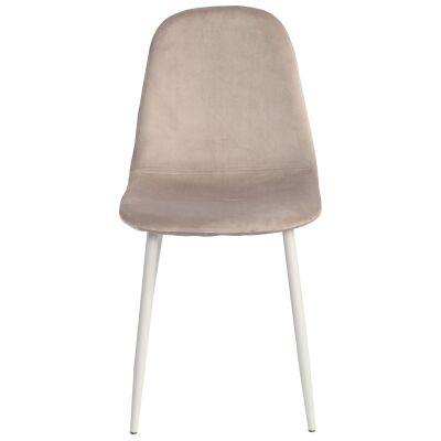 Mylo Velvet Fabric Dining Chair, Cappuccino