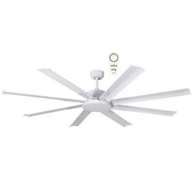 "Martec Albatross Mini Indoor / Outdoor DC Ceiling Fan with Remote, 165cm/65"", White"