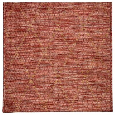 Magic No.301 Square Modern Tribal Indoor / Outdoor Rug, 240cm, Red