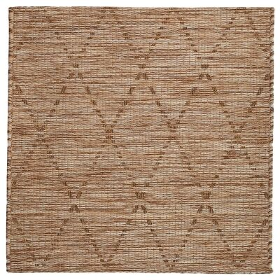 Magic No.301 Square Modern Tribal Indoor / Outdoor Rug, 240cm, Brown