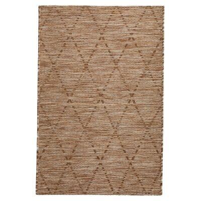 Magic No.301 Modern Tribal Indoor / Outdoor Rug, 330x240cm, Brown