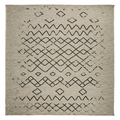 Magic No.304 Square Modern Tribal Indoor / Outdoor Rug, 240cm, Silver