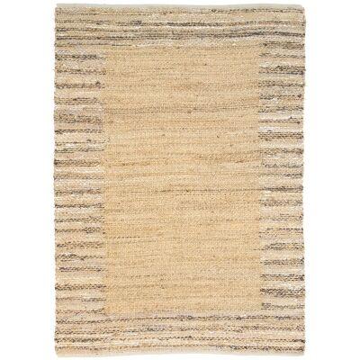 Mahal Handmade Reversible Jute & Cotton Rug, 150x220cm, Beige