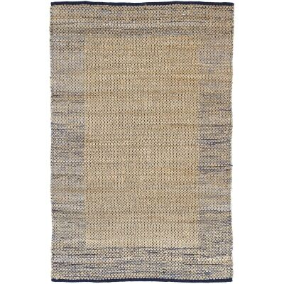 Mahal Handmade Reversible Jute & Cotton Rug, 230x320cm, Blue