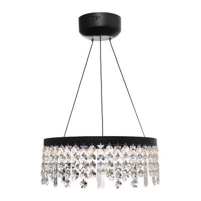 Majestic Crystal Droplet LED Pendant Light, Small, Black