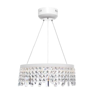 Majestic Crystal Droplet LED Pendant Light, Small, White