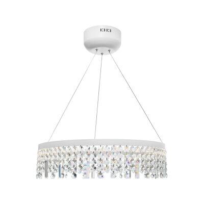 Majestic Crystal Droplet LED Pendant Light, Large, White