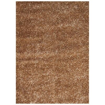Manali Hand Knotted Shaggy Rug, 250x200cm, Brown