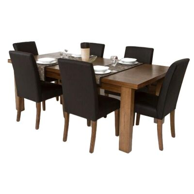 Mansfield Messmate Timber Dining Table (Table Only), 240cm