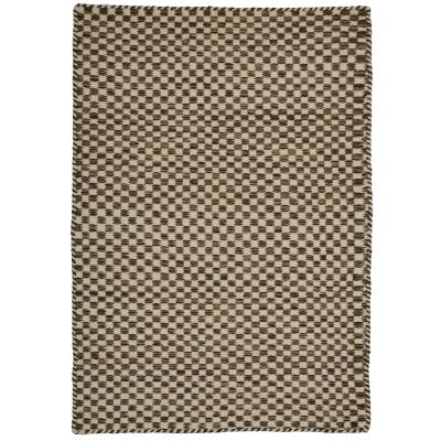 Madrid Handcrafted Modern Wool & Cotton Rug, 330x240cm, Brown / Ivory
