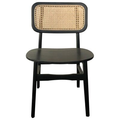Mario Commercial Grade Timber Dining Chair, Black