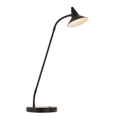 Marit Metal Dimmable LED Touch Desk Lamp, Black
