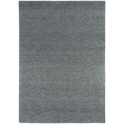 Marled Hand Tufted Wool Rug, 200x300cm, Coal