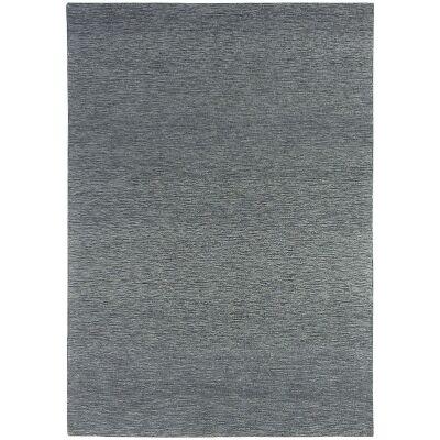 Marled Hand Tufted Wool Rug, 250x350cm, Coal