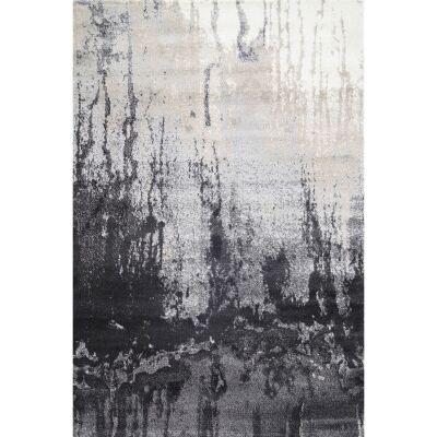 Matisse Ink Stain Turkish Made Modern Rug, 80x150cm, Grey