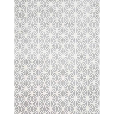 Matisse Pyramid Turkish Made Modern Rug, 80x150cm, Grey